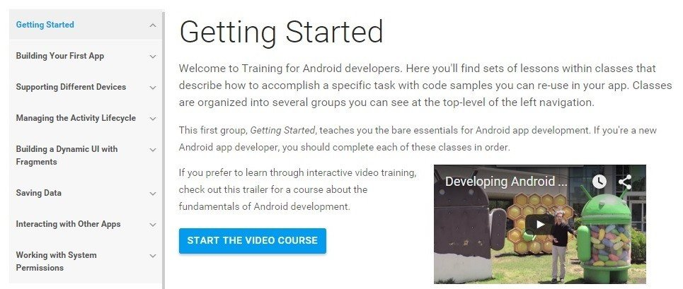 getting started android